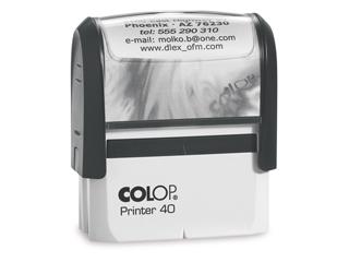 PR40|fekete színű Colop PR IQ 40 23x59 mm automata bélyegző - 5500 Ft - Bélyegző Miskolc