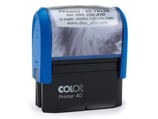 PR40|kék színű Colop PR IQ 40 23x59 mm automata bélyegző - 5500 Ft - Bélyegző Miskolc